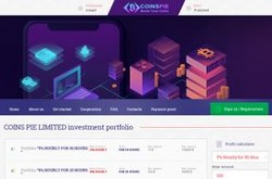 Invest site coinspie - Status Scam - start 2019-09-01 - plan 1.1% Hourly For 120 Hours