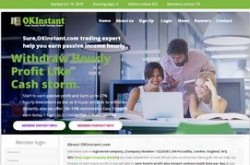 Invest site okinstant - Status Scam - start 2019-10-09 - plan 1.08% Hourly for 96 hours