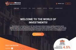 Invest site coinsminers - Status Scam - start 2020-05-12 - plan 2.85% - 5% Hourly for 38 Hours