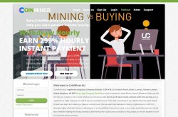 Invest site coinminer - Status Scam - start 2020-08-07 - plan 1.03%~1.60% Hourly for 100 hours