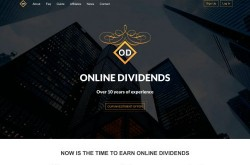 Invest site onlinedividends - Status Paying - start 2019-10-31 - plan 0.8% - 3% daily for 160 business days