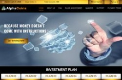 Invest site alphacoins - Status Scam - start 2019-06-27 - plan 2.30% Hourly for 48 Hours