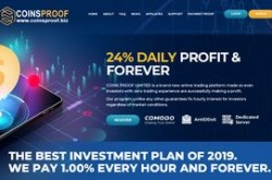 Invest site coinsproof - Status Scam - start 2019-07-04 - plan 2.35% Hourly For 48 Hours