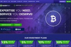 Invest site hashpay - Status Scam - start 2019-08-22 - plan 2.35% Hourly For 48 Hours