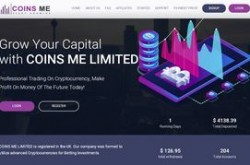Invest site coinsme - Status Scam - start 2019-08-29 - plan 2.32% Hourly For 48 Hours